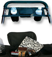 Kids Baby Stroller Safe Console tray pram hanging Black Bag bottle Cup Holder KP