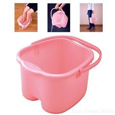 Foot Bath Bucket Massage Spa Japanese Water Tub Nail Toes Pedicure Fatigue Pink