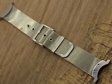 Original Authentic Gucci Stainless Steel Mesh watch band Mens ref 03/12 2458