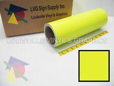 "12"" X 4ft - Fluorescent Yellow -*LVG InterCal*- Craft & Hobby Vinyl Film"