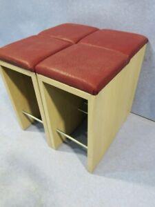 4 Stück Hocker Sitzhocker Barhocker für Café Bistro Bar Restaurant #33006
