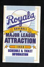 Kansas City Royals--1988 Pocket Schedule--Southwestern Bell Mobile