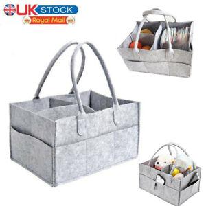 Baby Diaper Organizer Storage Box Caddy Felt Changing Nappy Kids Carrier Bag UK