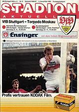 CWC EC II 86/87 VfB Stuttgart - Torpedo Moskau, 05.11.1986