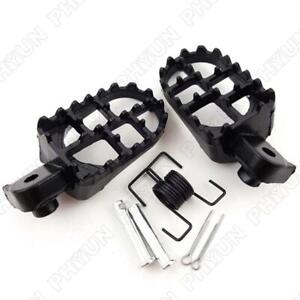 Motorcycle Wide Footrest Foot Pegs 8mm Bolt Fit Motorcycle Pit bike Dirt Bikes