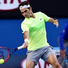 Nike Roger FEDERER Australian open Premier RF Tennis Crew Shirt Green Volt Piccolo
