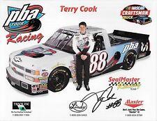 """SIGNED 1998 TERRY COOK """"PBA TOUR RACING SEALMASTER"""" #88 NASCAR TRUCK POSTCARD"""