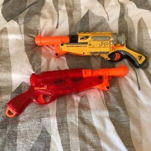 Nerf N Strike Barrel Break IX-2 Sonic Red & Yellow Blaster Double Barrel Guns