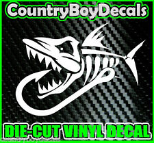 SKELETON FISH with HOOK Vinyl Decal Sticker Truck Diesel Car Pond Lake Fishing