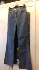 Topshop Moto blue high waist flared jeans size 8