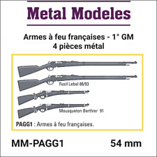 "METAL MODELES miniature ""Accessories French firearms 1° GM""  Unpainted metal kit"
