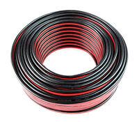 12 Gauge 100 Feet Red Black Car Audio Stereo Speaker Wire Zip Cable Audiopipe