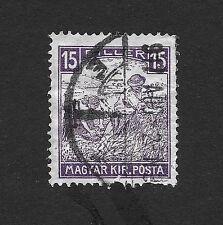 "Hungary Stamp 1919 Reaper - Inscription "" Magyar Posta"" 15 f (C1)"