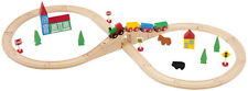 37pcs Wooden Railway Train Set 50049 - Brio Bigjigs Compatible