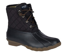 NIB Women's Sperry Saltwater Duck Boots in Black STS94063