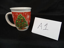 ROYAL NORFOLK CERAMIC CHRISTMAS TREE COFFEE MUG CUP SNOWFLAKES NO CRACKS A1