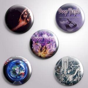 5 DEEP PURPLE -  Pinbacks Badge Button 25mm 1''..