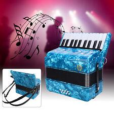 22 Tasten Akkordeon 8 Bass mit Riemen Anfänger Ziehharmonika Musikinstrument