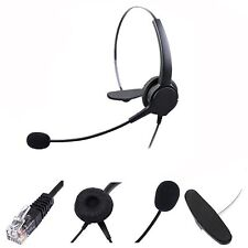 RJ11 Telephone Headset Noise Cancelling Microphone Earphone Headphone Desk Phone