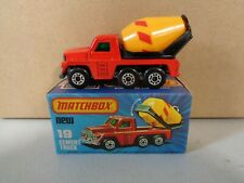 Matchbox Superfast Cement Truck 19 Mint with Box (1)