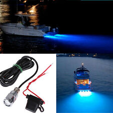 6-LED Blue Underwater Marine Boat Drain Plug Light for Wakeboard Diving/Fishing