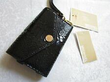 Michael Kors iPhone Wristlet Wallet Black Genuine Leather NWT