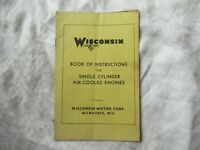 1943 Wisconsin single cylinder air-cooled engine instruction book manual