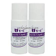 2 PCS 75ml Nail Art Acrylic Liquid Set for Dish Acrylic Powder False Tips