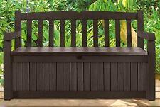 Keter Eden Bench with a Storage Box Garden Deck Seating Patio Garden Backyard