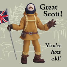 Great Scott How Old? Funny Olde Worlde Birthday Card Erica Sturla Cards