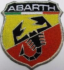 Toppa ricamata patch termoadesiva logo marchio ABARTH cm. 8,5 x 7,5
