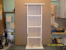 2 DVD STORAGE CABINET SHELF TOWER FREE PAINT OR STAIN