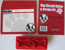 Dog biscuit cookie cutter & recipe set - Includes Recipes - Now with a Free Gift