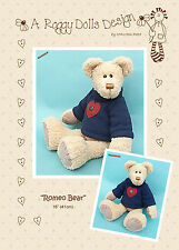 ROMEO BEAR - Sewing Craft PATTERN - Jointed Bear Pattern