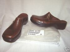 Clark's Leather Comfort Clogs w/ Topstitching Sz. 9