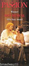 """Stephen Sondheim """"PASSION"""" Donna Murphy / Marin Mazzie / Jere Shea 1994 Flyer"""