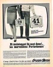PUBLICITE   1967   PIZON BROS  téléviseurs portables  PORTAVISEURS