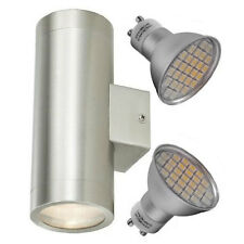 Double LED Stainless Steel Outdoor / Indoor Wall Light Garden Light 2 x 5w LED
