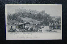 Early Valentines Postcard- Edinburgh Castle+ National Gallery- Postmark 1902 ED5