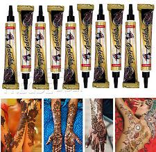 10x Golecha pâte de henné noir Tubes a 25g Mehendi Tatouage Testé cliniquement
