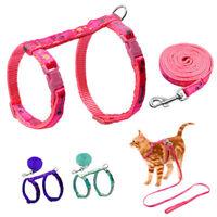 Cat Walking Harness & Leash Set Adjustable Small Puppy Kitten Rabbit Harness