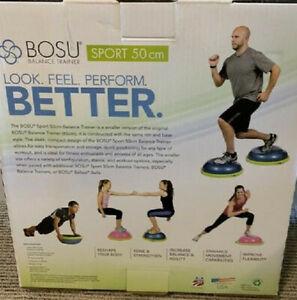 Bosu Ball SPORT 50CM Balance Trainer Exercise Gym Workout w/ Pump Blue w/ Lime