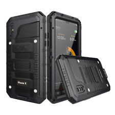Waterproof Shockproof Case for iPhone 7 8 6 Plus XR XS Aluminum Metal Hard Cover
