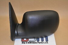 Chevrolet Silverado GMC Sierra LH Driver Black Side View Manual Mirror new OEM