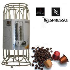 PORTA CAPSULE CAFFE' NESPRESSO DISPENSER CIRCOLARE 36 POSTI IN ACCIAIO CROMATO