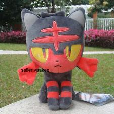 "Pokemon Center Go Plush Toy Litten Nyabi Nintendo Game Stuffed Animal Doll 8"""
