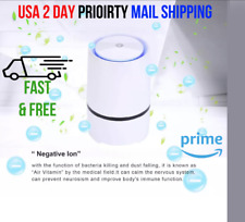 Portable Air Purifier For Home With HEPA Filter Room Ionizer Smoke Remover USB W
