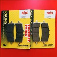 Suzuki GSXR 1000 R L7-L9 17 - 19 SBS Front Dual Carbon Race Brake Pads Set 841DC