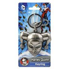 DC Comics Harley Quinn Head Pewter Keychain