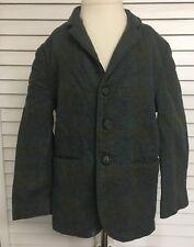 Vintage Boys Wool Three Button Blazer Suit Jacket